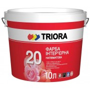 Краска интерьерная полуматовая TRIORA 20