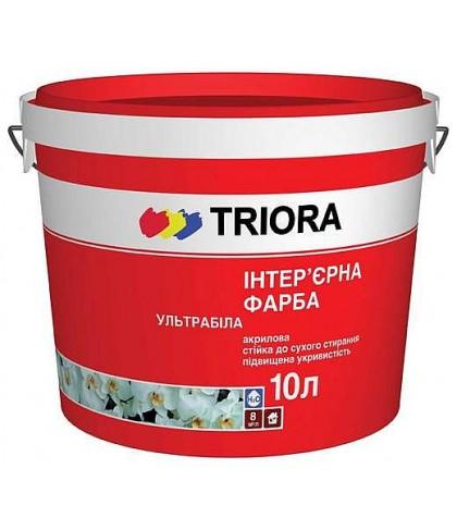 Краска интерьерная ультрабелая TRIORA