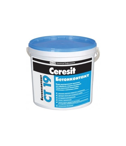 "CT-19 ""Ceresit"" Грунтовка бетоконтакт 4,5 л"